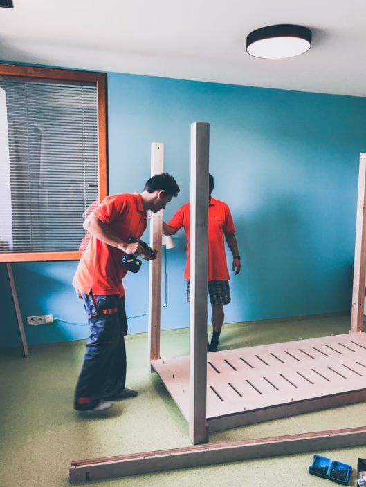 Dětský rostoucí nábytek české výroby, březová překližka