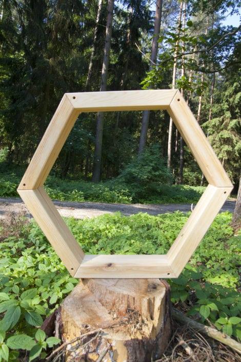šestiúhelník, geometrický design, moderní design, jednoduchý styl, dřevěné dekorace, rustikální dekorace
