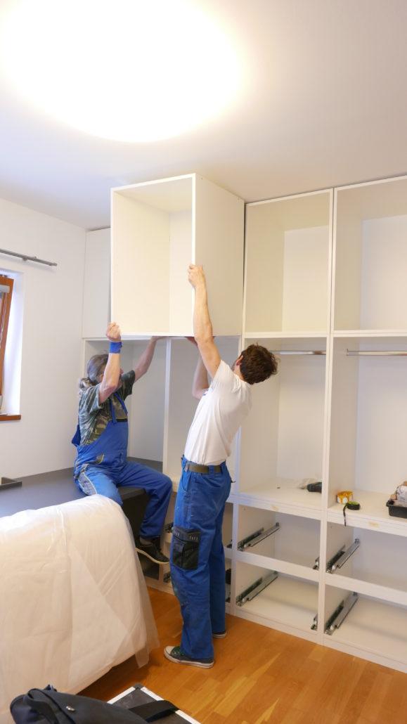 Instalace nábytku na míru